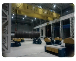 南通蓝岛海洋工程有限公司厂房照明改造效果图